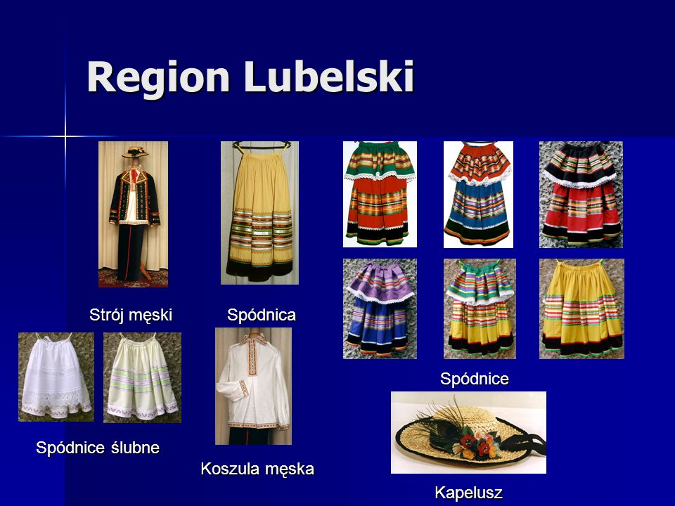 Region Lubelski Strój męski Spódnica Spódnice Spódnice ślubne