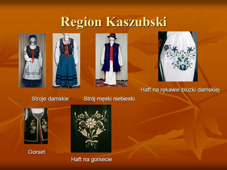 Region Kaszubski Haft na rękawie bluzki damskiej Stroje damskie