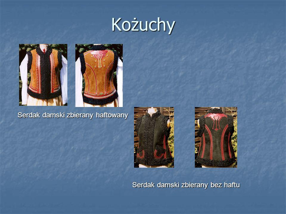 Kożuchy Serdak damski zbierany haftowany