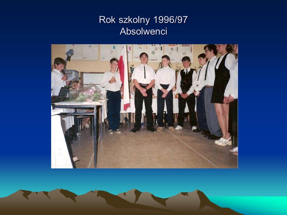Rok szkolny 1996/97 Absolwenci