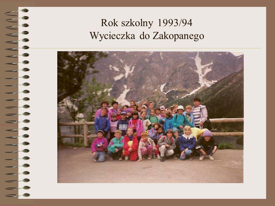 Rok szkolny 1993/94 Wycieczka do Zakopanego