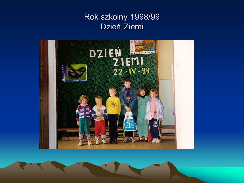 Rok szkolny 1998/99 Dzień Ziemi