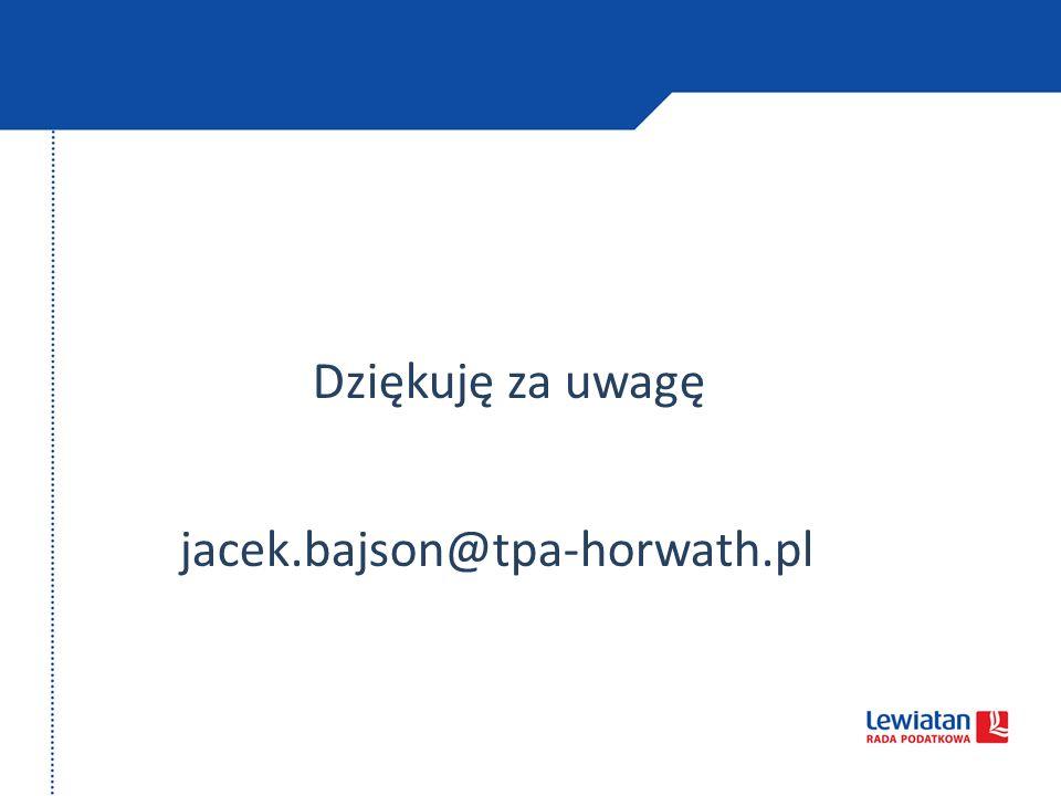 Dziękuję za uwagę jacek.bajson@tpa-horwath.pl 40
