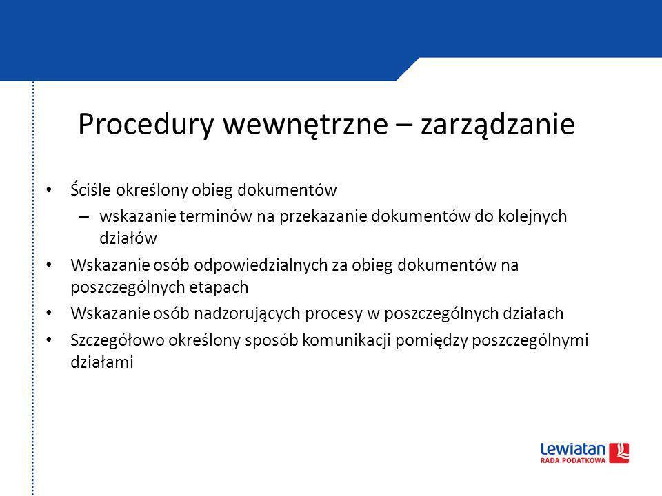 Procedury wewnętrzne – zarządzanie