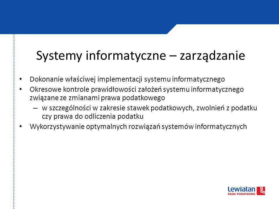 Systemy informatyczne – zarządzanie