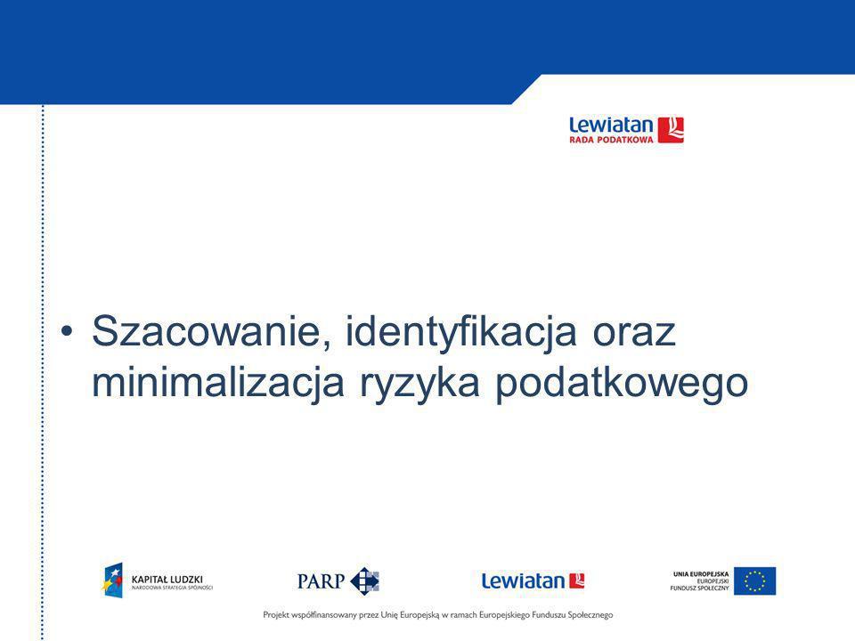 Szacowanie, identyfikacja oraz minimalizacja ryzyka podatkowego