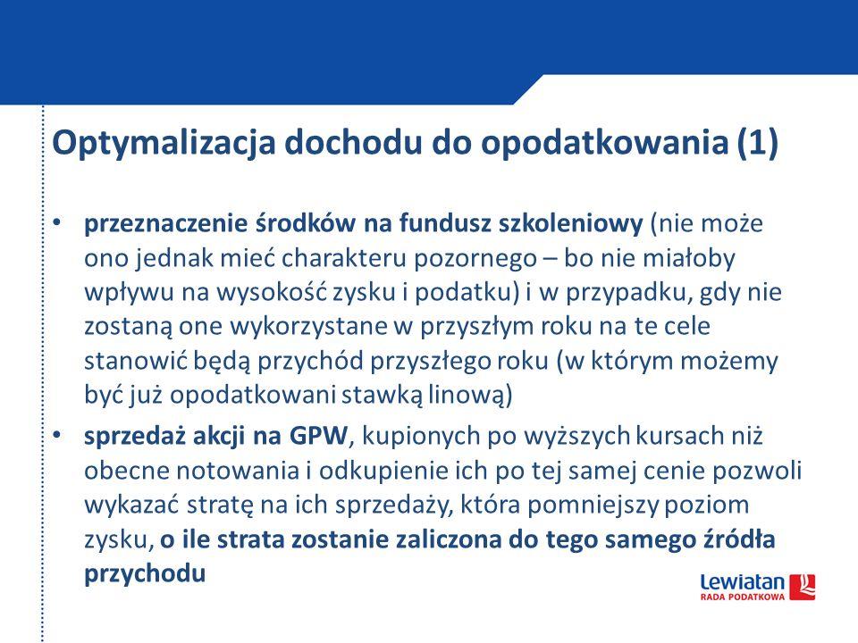 Optymalizacja dochodu do opodatkowania (1)