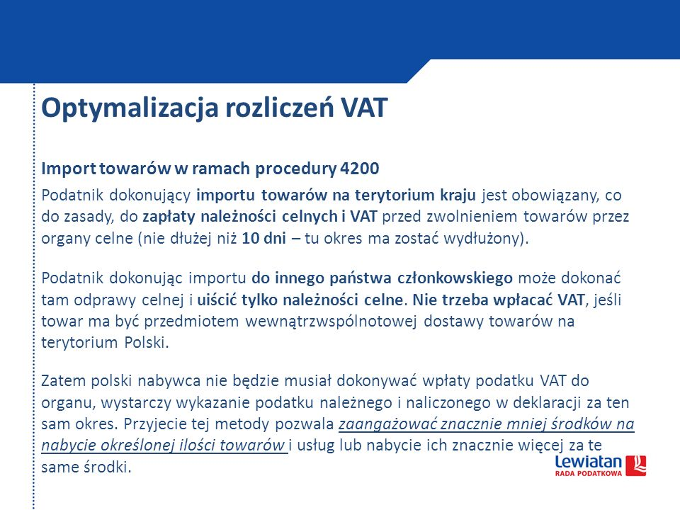 Optymalizacja rozliczeń VAT