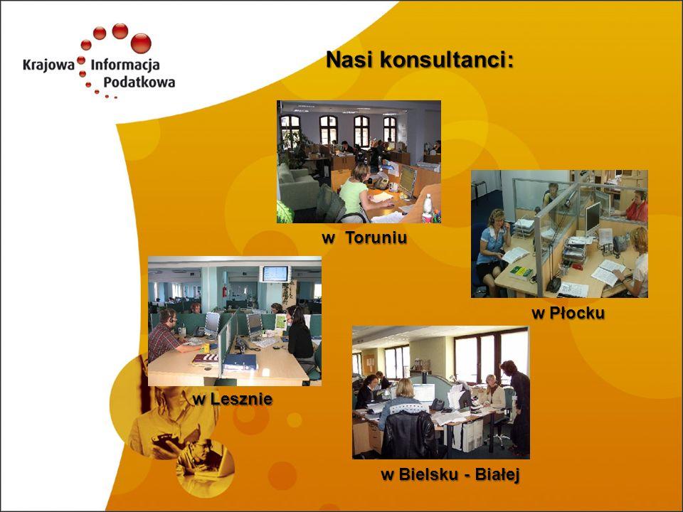 Nasi konsultanci: w Toruniu w Płocku w Lesznie w Bielsku - Białej