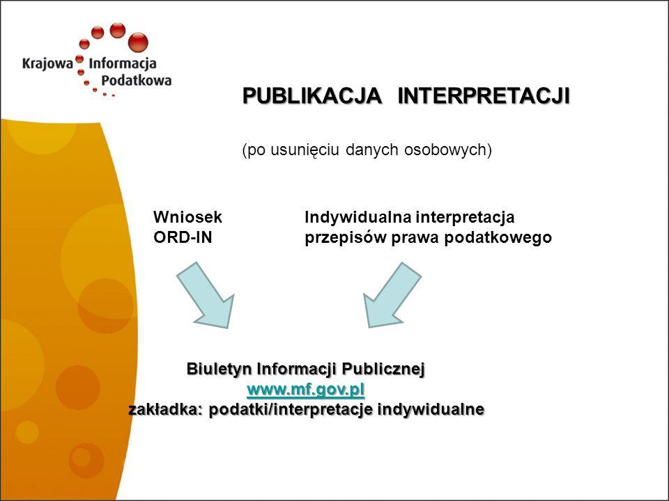 PUBLIKACJA INTERPRETACJI