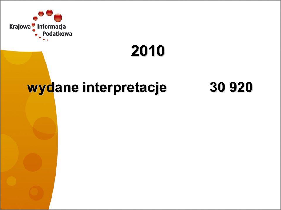 2010 wydane interpretacje 30 920