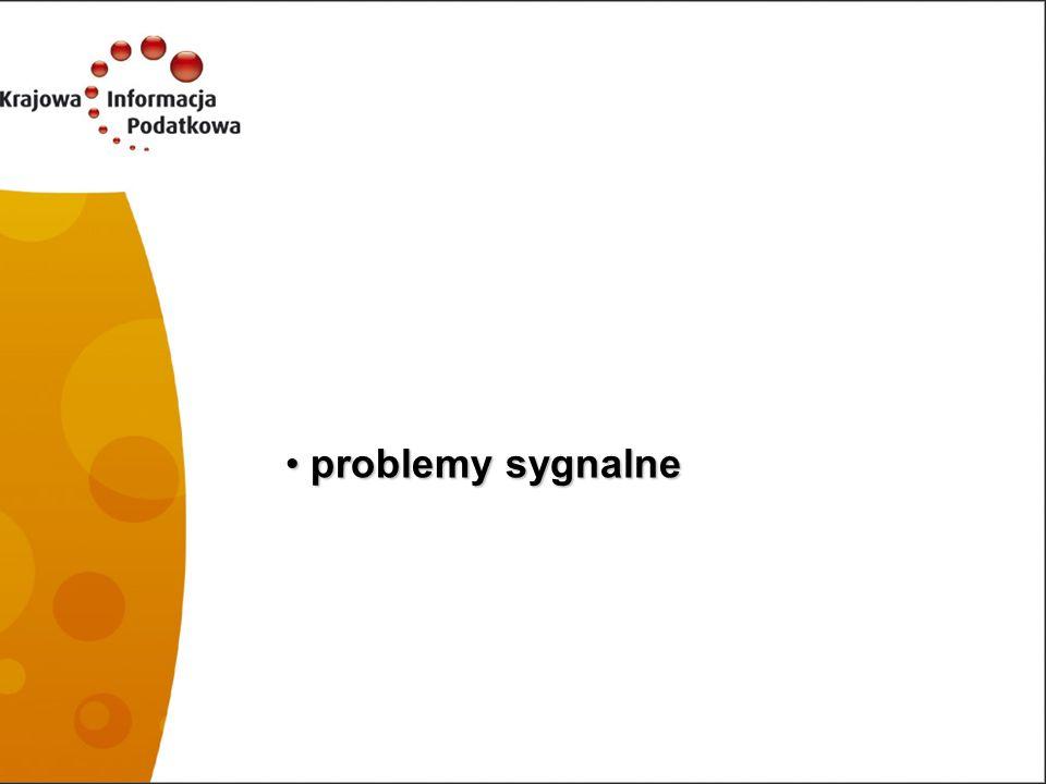 problemy sygnalne 33