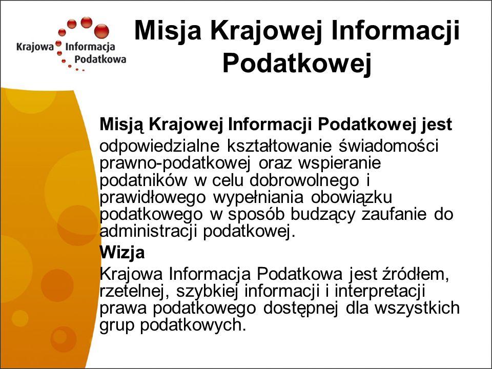 Misja Krajowej Informacji Podatkowej