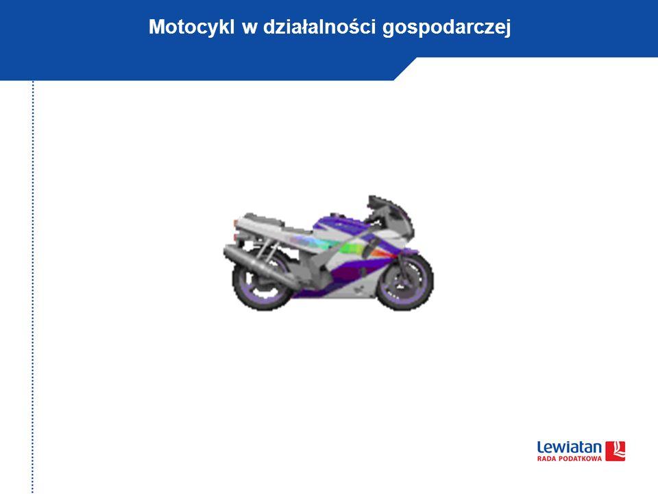 Motocykl w działalności gospodarczej