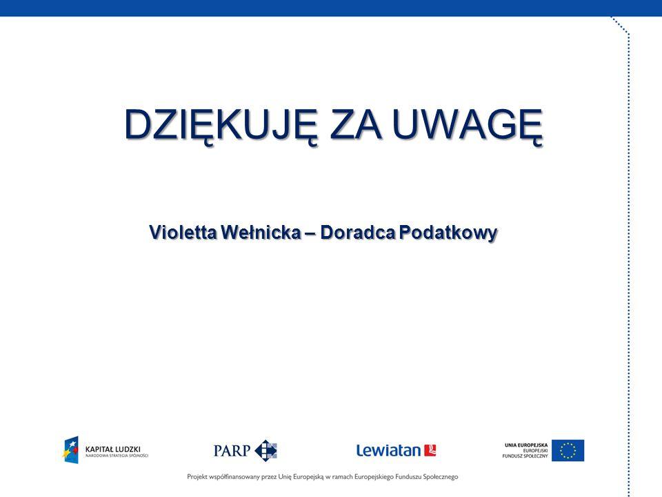 Violetta Wełnicka – Doradca Podatkowy