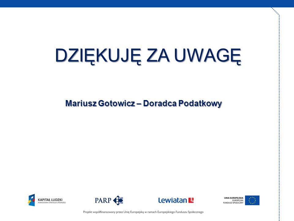 Mariusz Gotowicz – Doradca Podatkowy