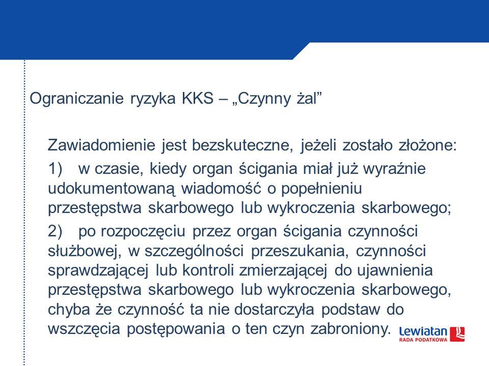 """Ograniczanie ryzyka KKS – """"Czynny żal"""
