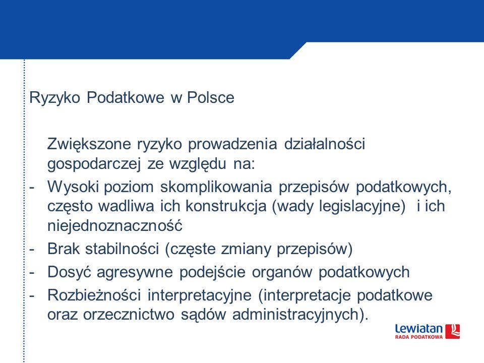 Ryzyko Podatkowe w Polsce