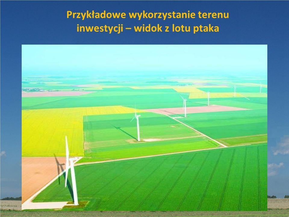 Przykładowe wykorzystanie terenu inwestycji – widok z lotu ptaka