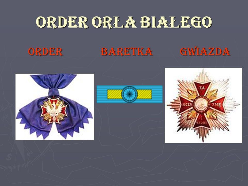 ORDER ORŁA BIAŁEGO ORDER BARETKA GWIAZDA