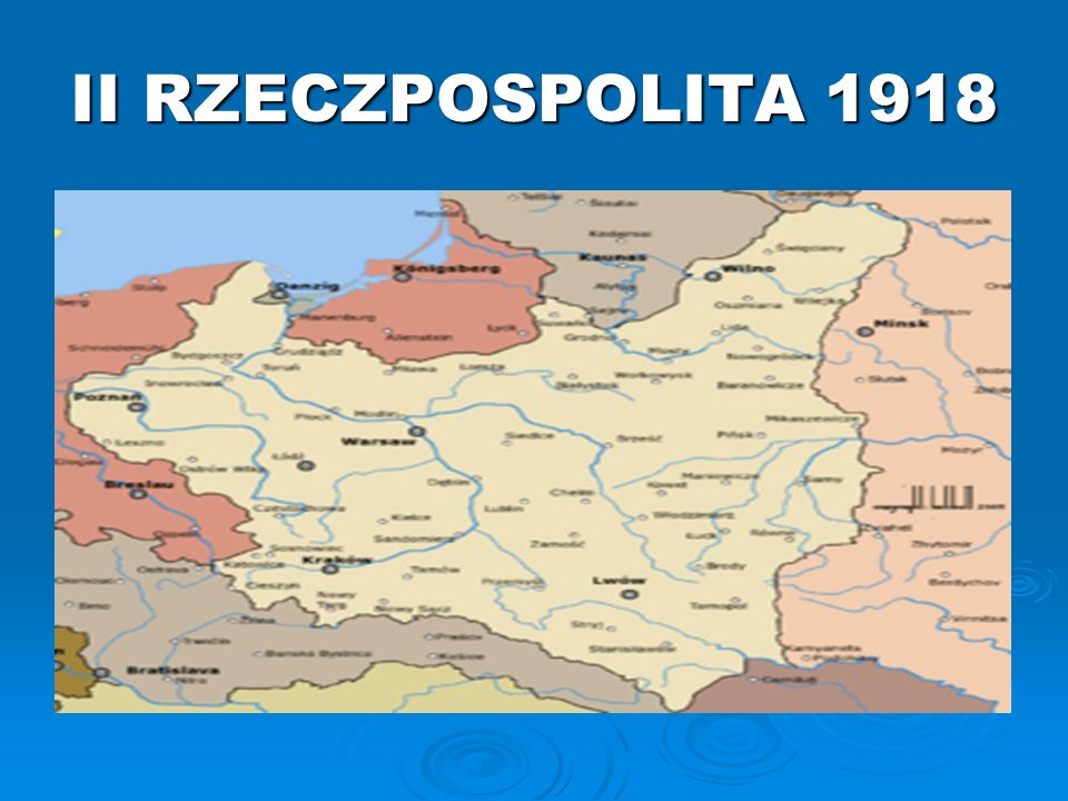 II RZECZPOSPOLITA 1918