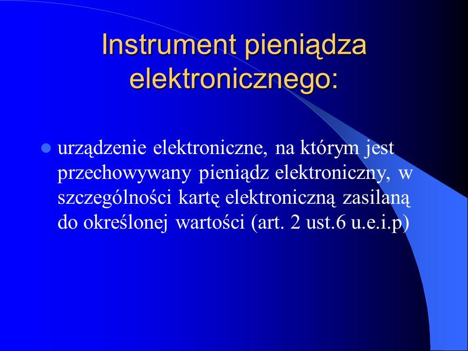 Instrument pieniądza elektronicznego: