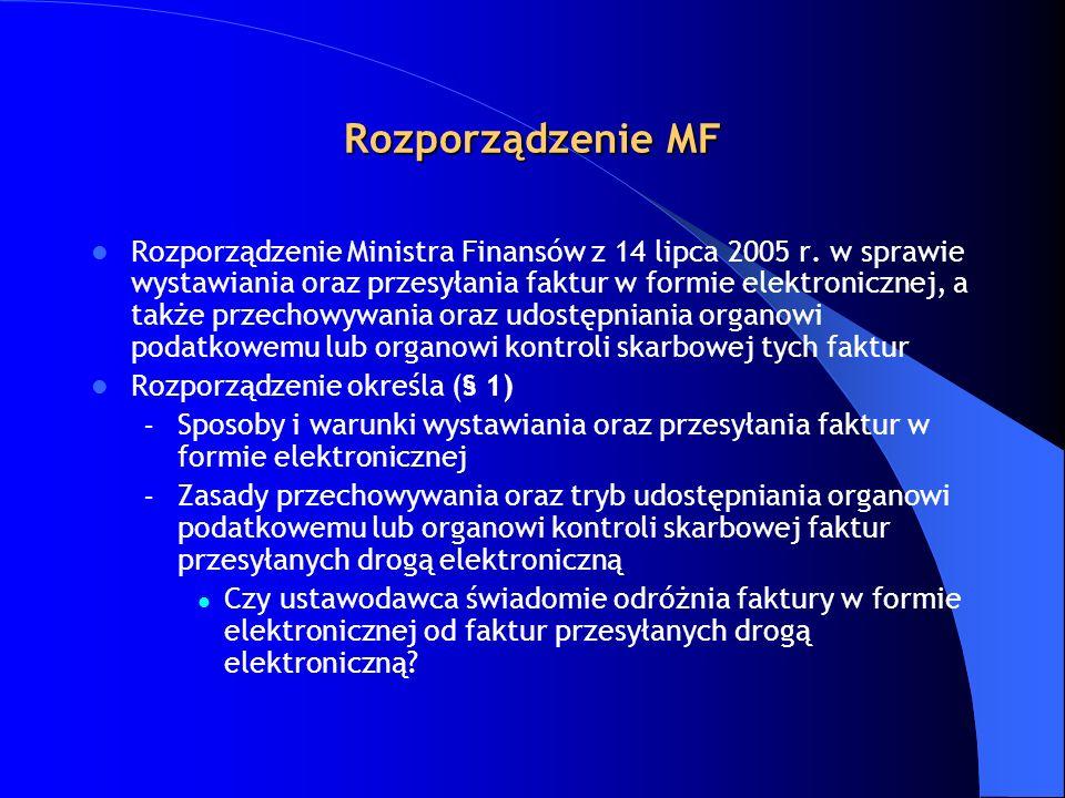 Rozporządzenie MF