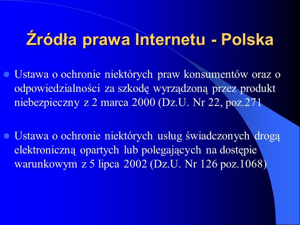 Źródła prawa Internetu - Polska