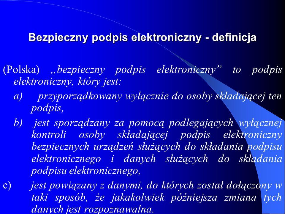 Bezpieczny podpis elektroniczny - definicja