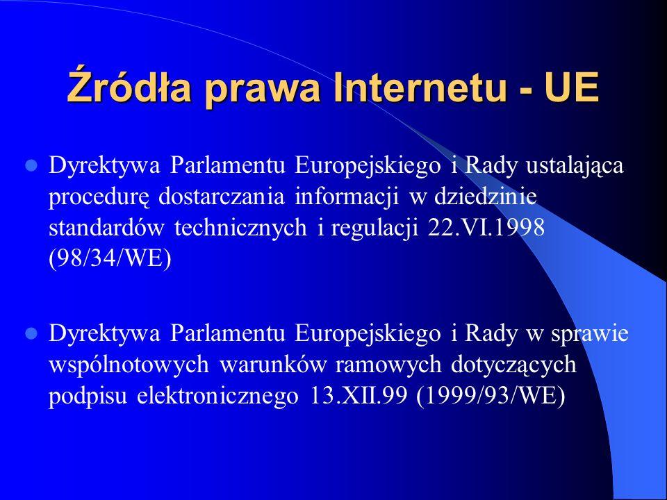 Źródła prawa Internetu - UE