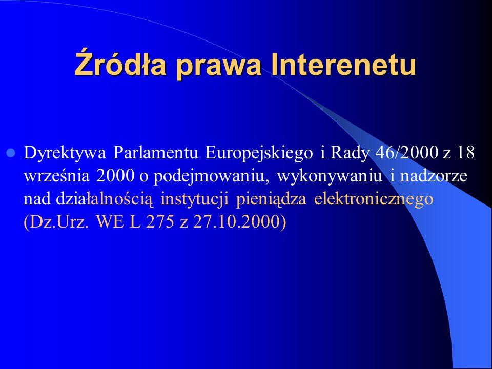 Źródła prawa Interenetu