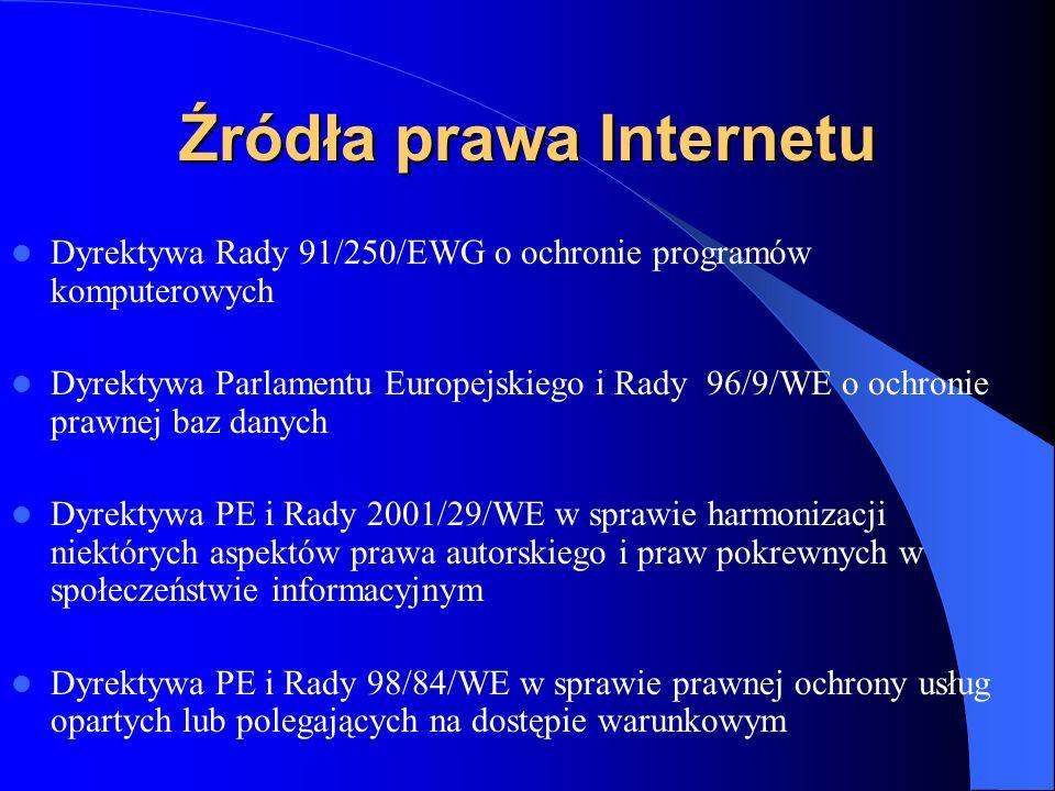 Źródła prawa Internetu
