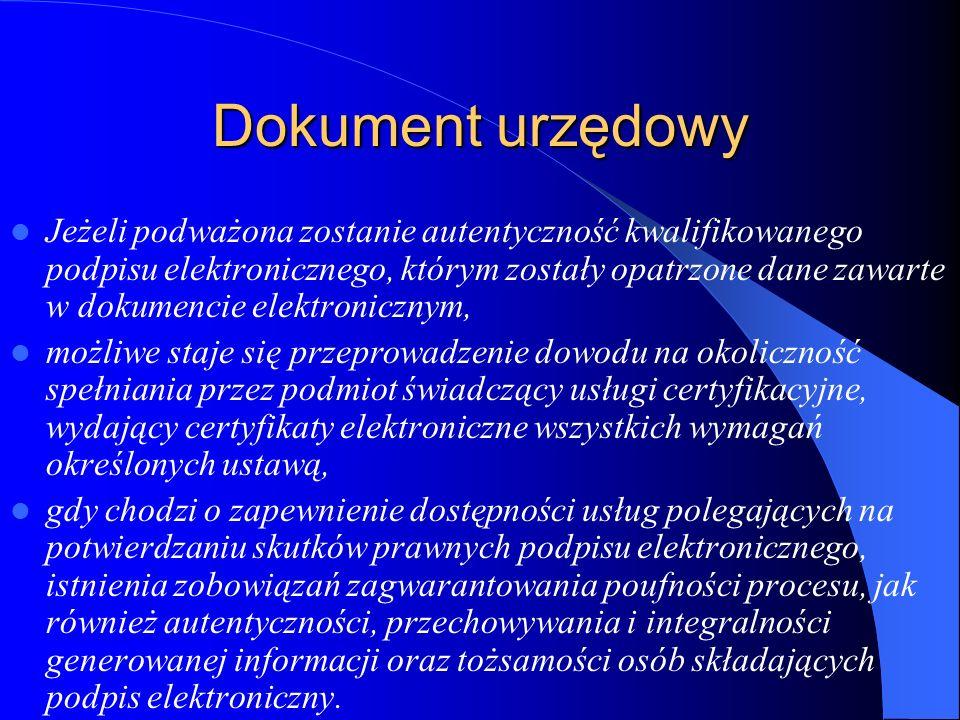 Dokument urzędowy