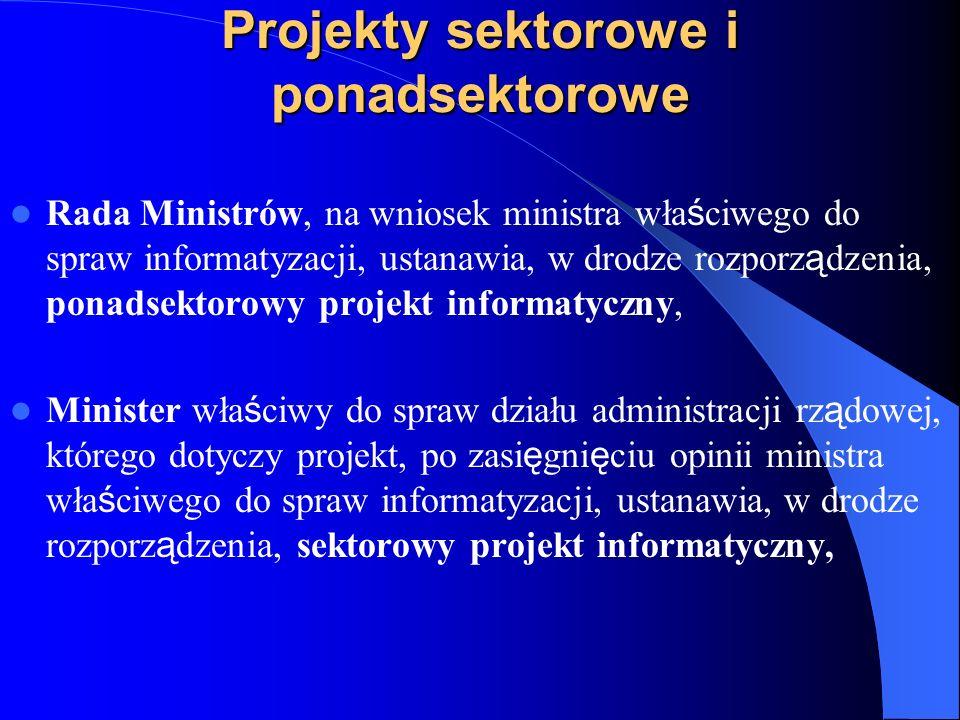 Projekty sektorowe i ponadsektorowe