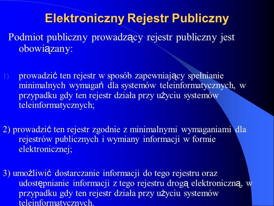 Elektroniczny Rejestr Publiczny