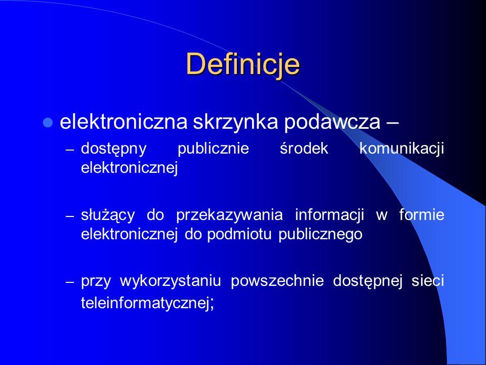 Definicje elektroniczna skrzynka podawcza –