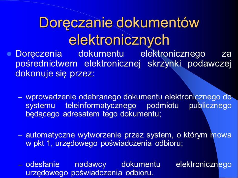 Doręczanie dokumentów elektronicznych