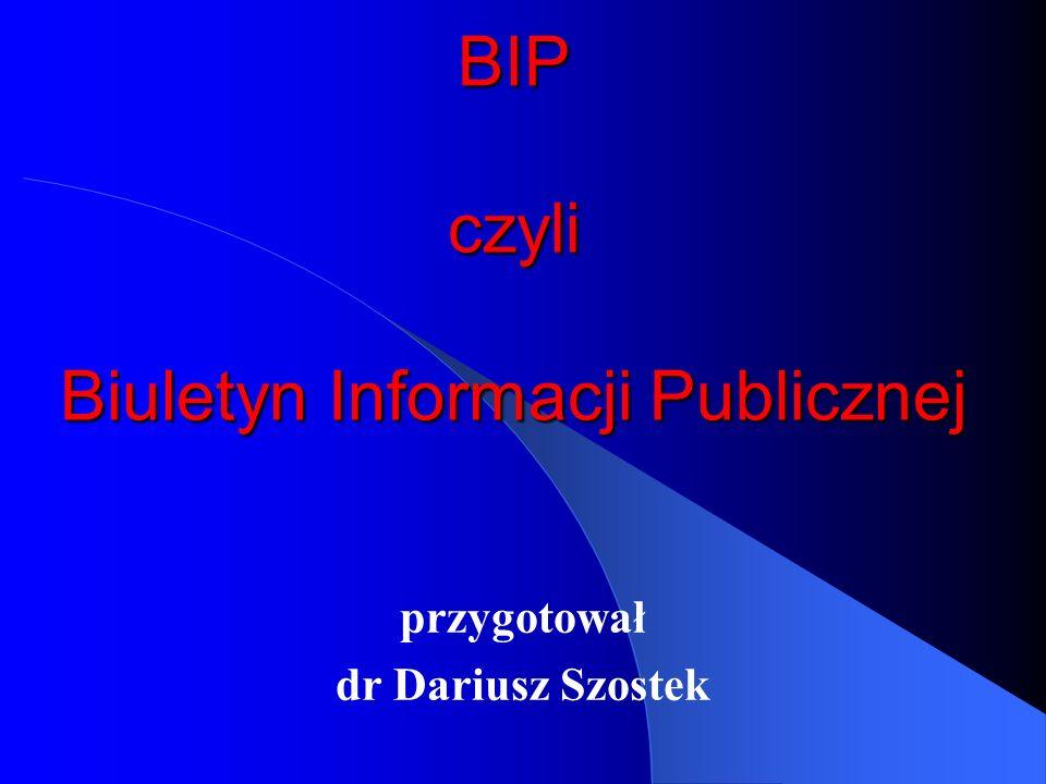 BIP czyli Biuletyn Informacji Publicznej