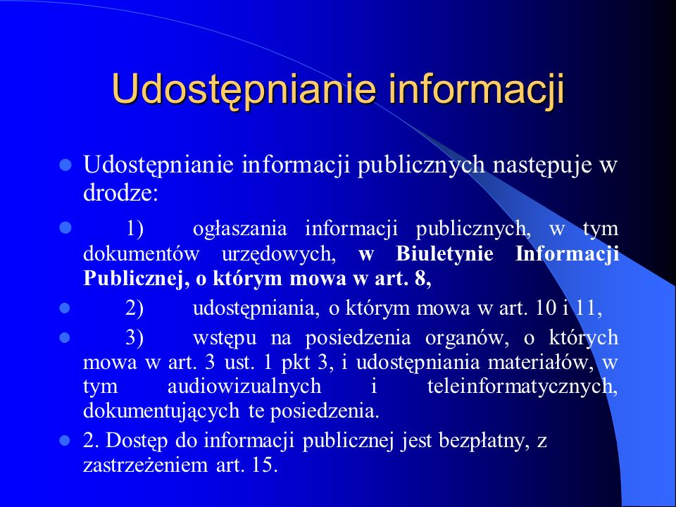 Udostępnianie informacji