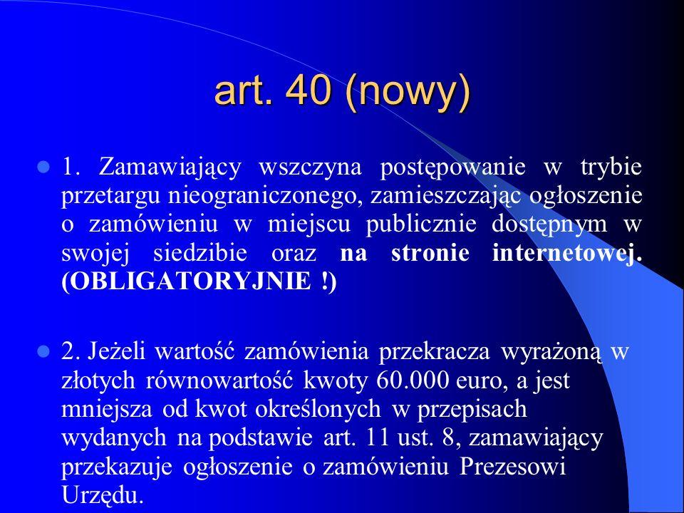 art. 40 (nowy)