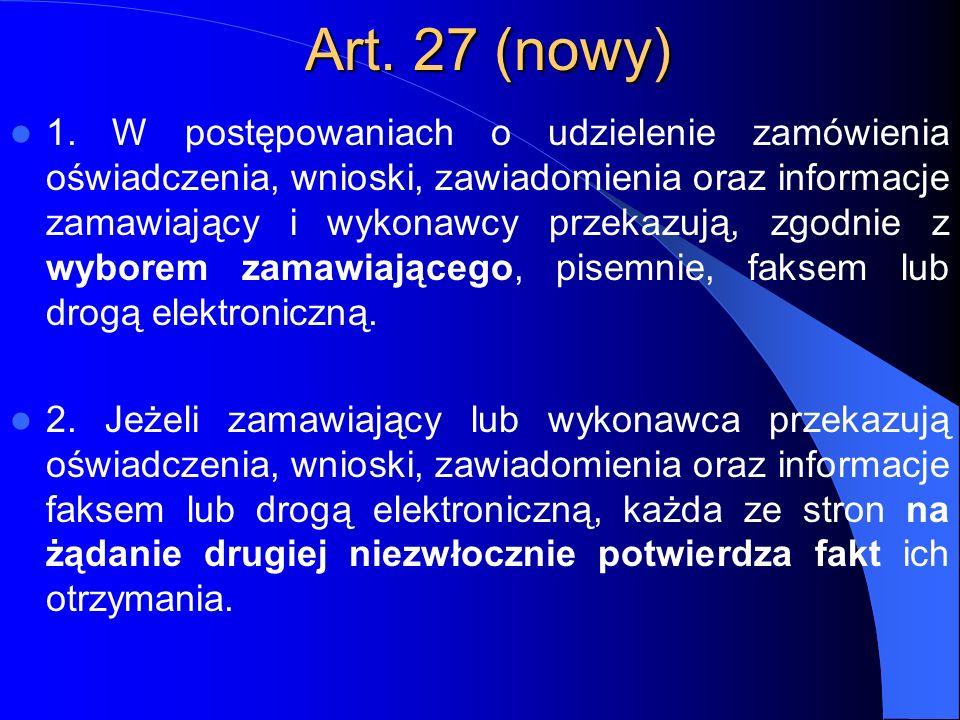 Art. 27 (nowy)