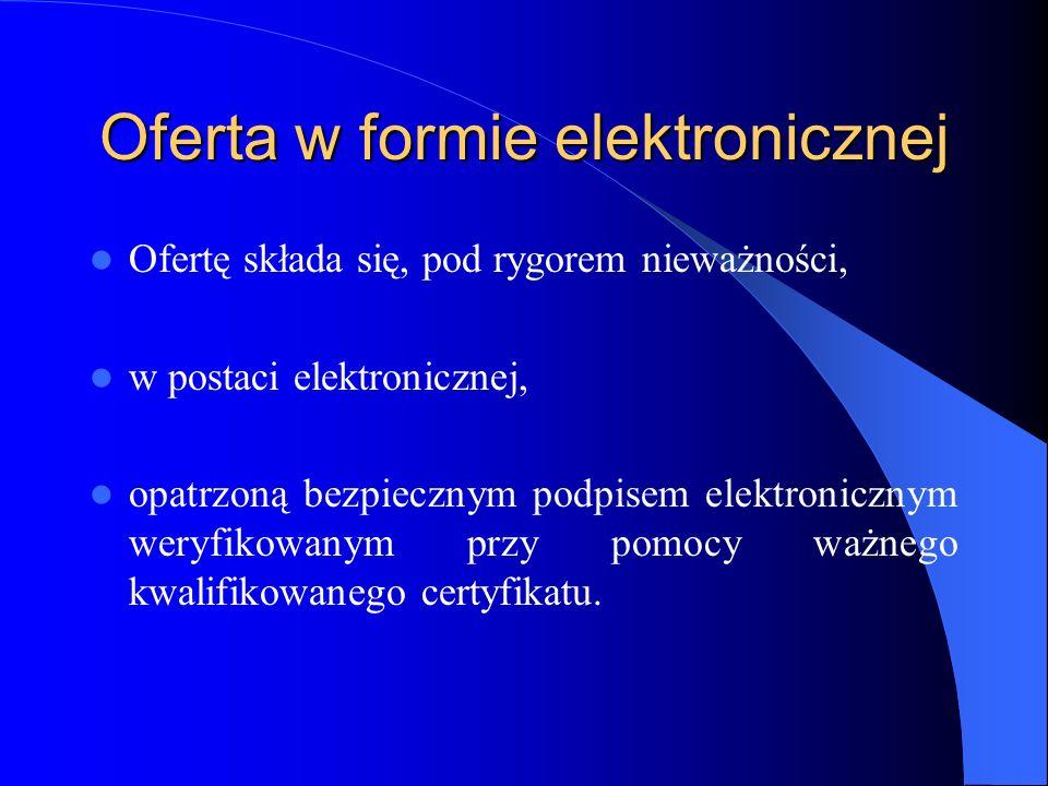 Oferta w formie elektronicznej