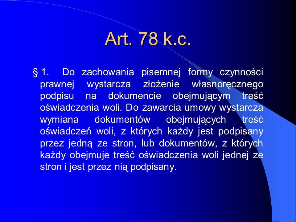 Art. 78 k.c.