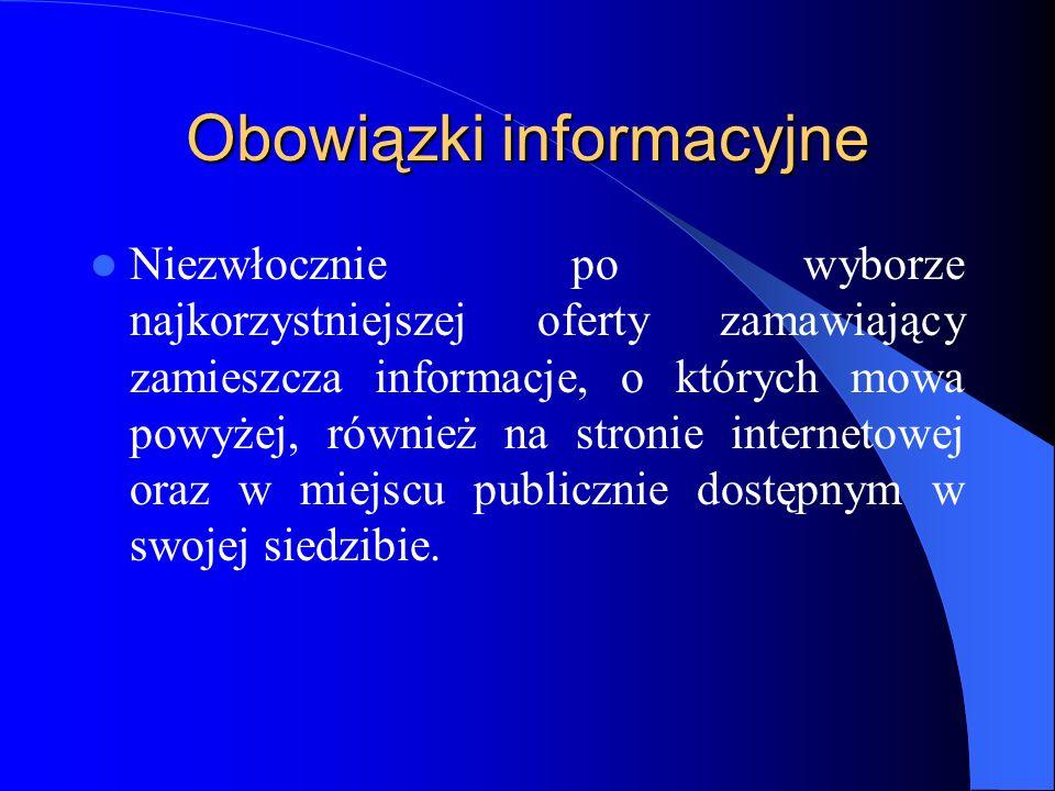 Obowiązki informacyjne