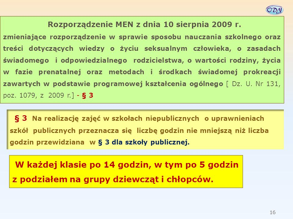 Rozporządzenie MEN z dnia 10 sierpnia 2009 r.