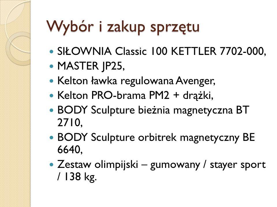 Wybór i zakup sprzętu SIŁOWNIA Classic 100 KETTLER 7702-000,