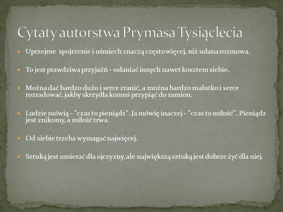 Cytaty autorstwa Prymasa Tysiąclecia
