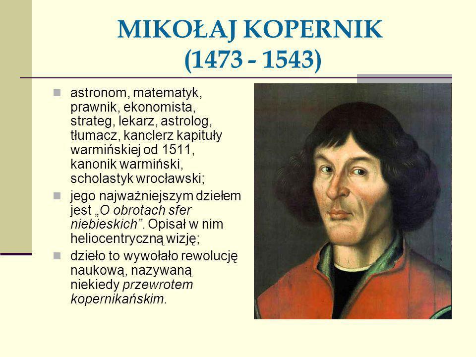 MIKOŁAJ KOPERNIK (1473 - 1543)