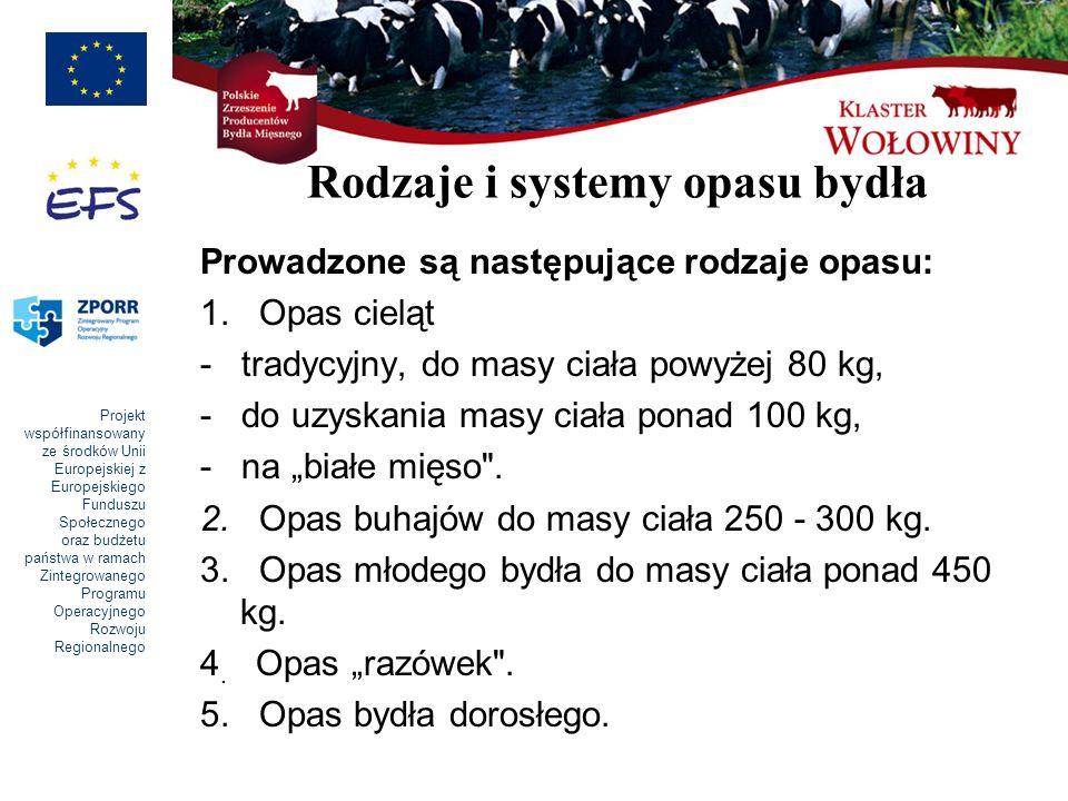 Rodzaje i systemy opasu bydła