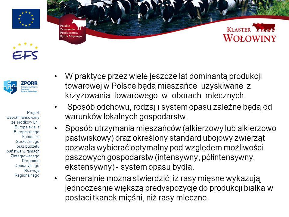 W praktyce przez wiele jeszcze lat dominantą produkcji towarowej w Polsce będą mieszańce uzyskiwane z krzyżowania towarowego w oborach mlecznych.